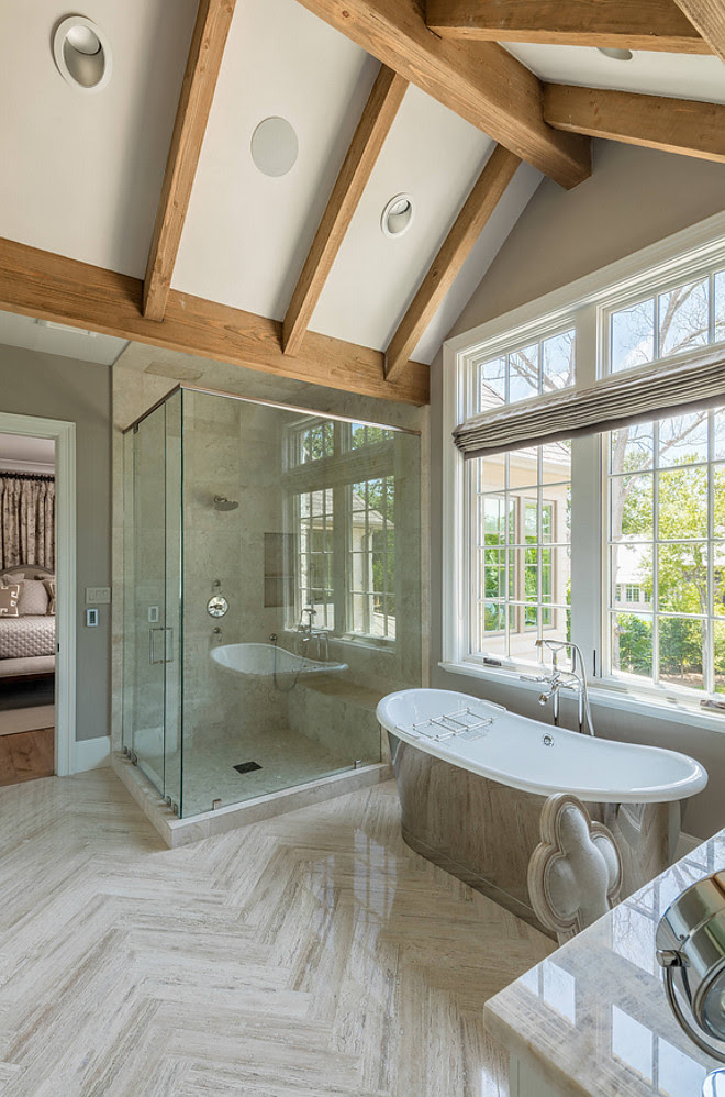 Stone Home with Transitional French Country Interiors ...