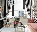 Stylish Delightful Living Room Gray Black White Pink Feminine ...