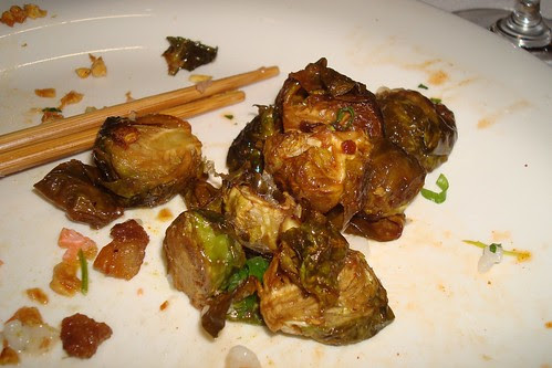 Roasted Brussels Sprouts, Ponzu Fried Garlic, Guanciale, Bonito Flakes