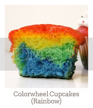 """Colorwheel Cupcakes (Rainbow)"""
