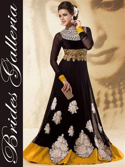 Black Designer Anarkali Dress Party Wear Black Designer