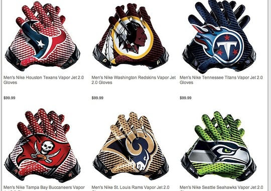 The NFL and Nike are selling those hideous wide receiver gloves