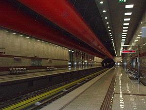 Kerameikos Metro station in Athens, Greece
