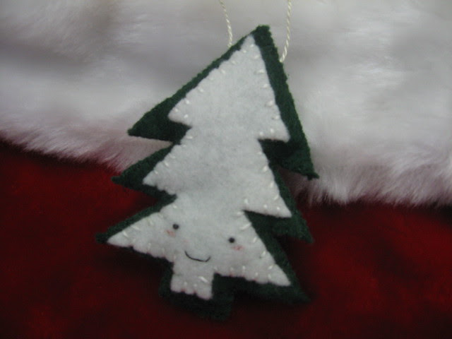Smiling Pine Tree Ornament