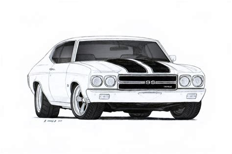 chevrolet chevelle ss pro touring drawing