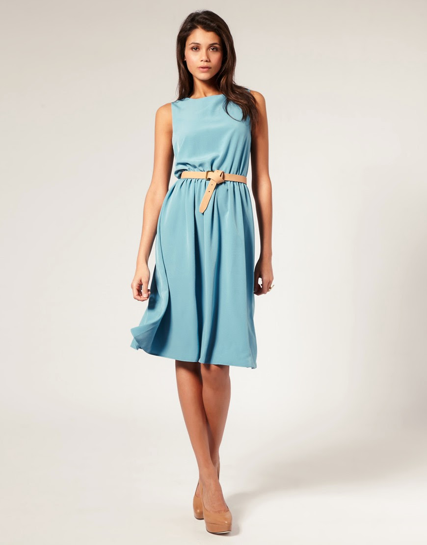 Image 4 ofASOS Midi Dress with Soft Skirt