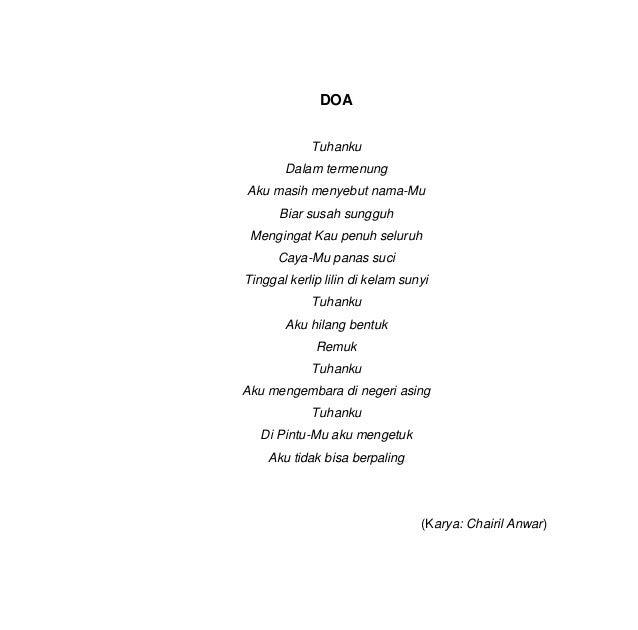 Contoh Soal Puisi Kelas X Contoh Z