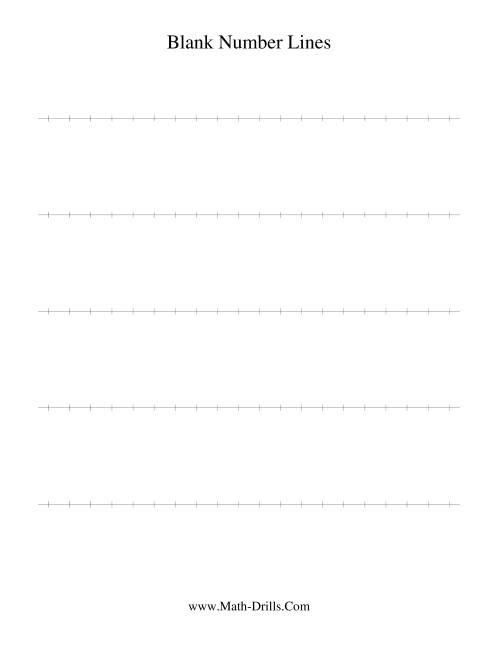 Blank Number Line Number Sense Worksheet