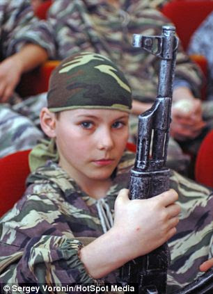 No messing: The course, which  includes several military-technical disciplines, physical conditioning and the development a boy's moral qualities, can create quite an appetite