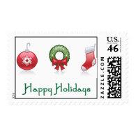 Happy Holidays Postage