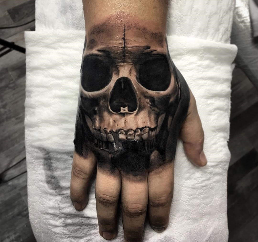 Dark Hand Skull Best Tattoo Design Ideas