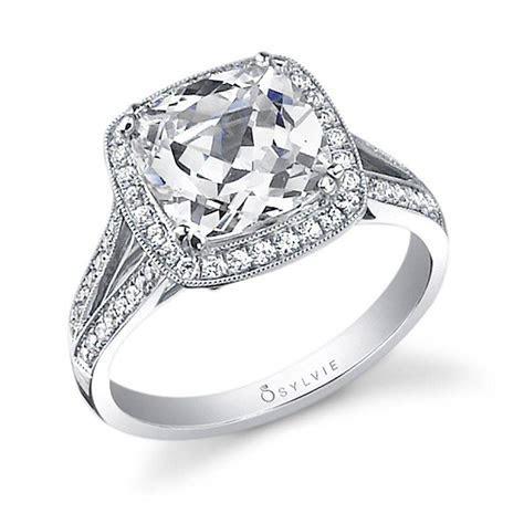 Léa   Cushion Cut Halo Engagement Ring   SY453