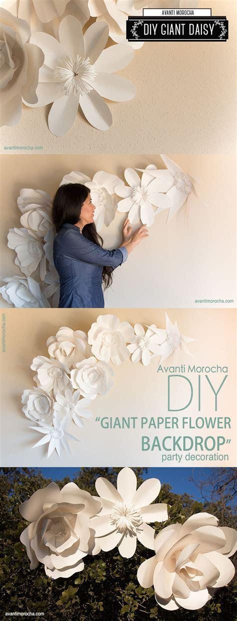 "DIY "" Giant Paper Flower Backdrop"" Weddings, event decor"