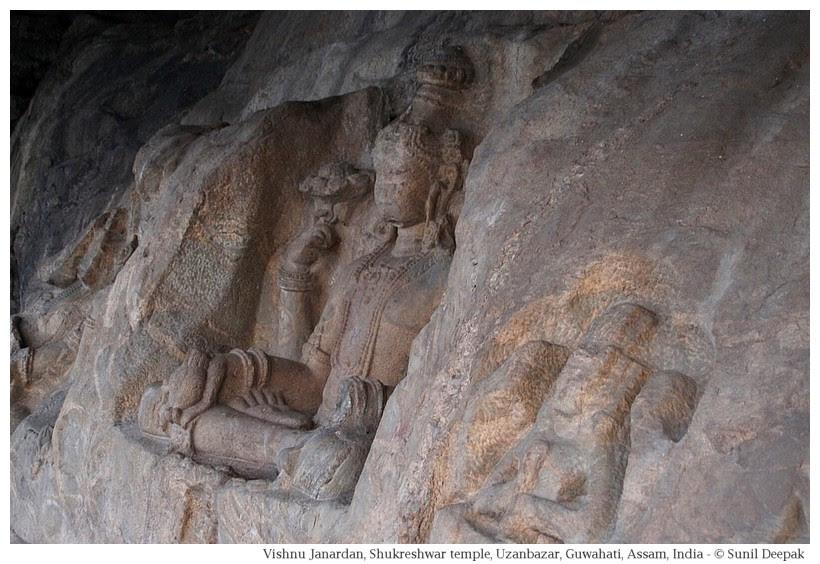 Vishnu Janardan, Rock-cut sculptures, Guwahati, Assam, India
