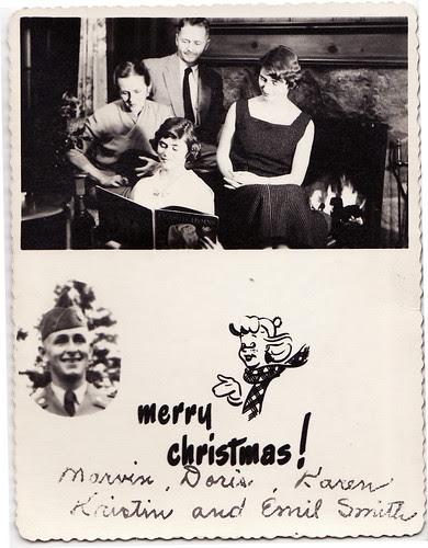 wartime christmas family card