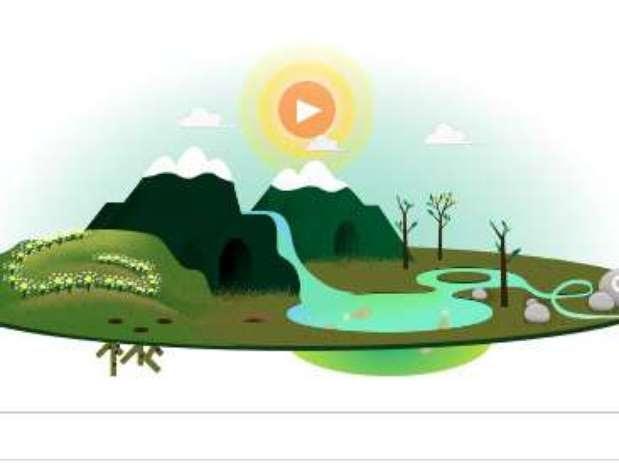 Doodle de Google sobre el Día de la Tierra Foto: Terra