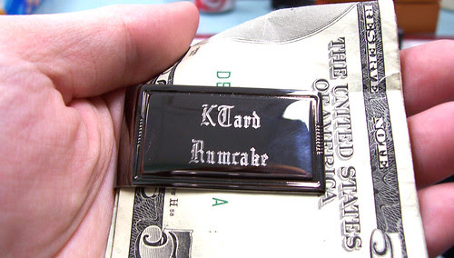 Engraved money clip - already filled