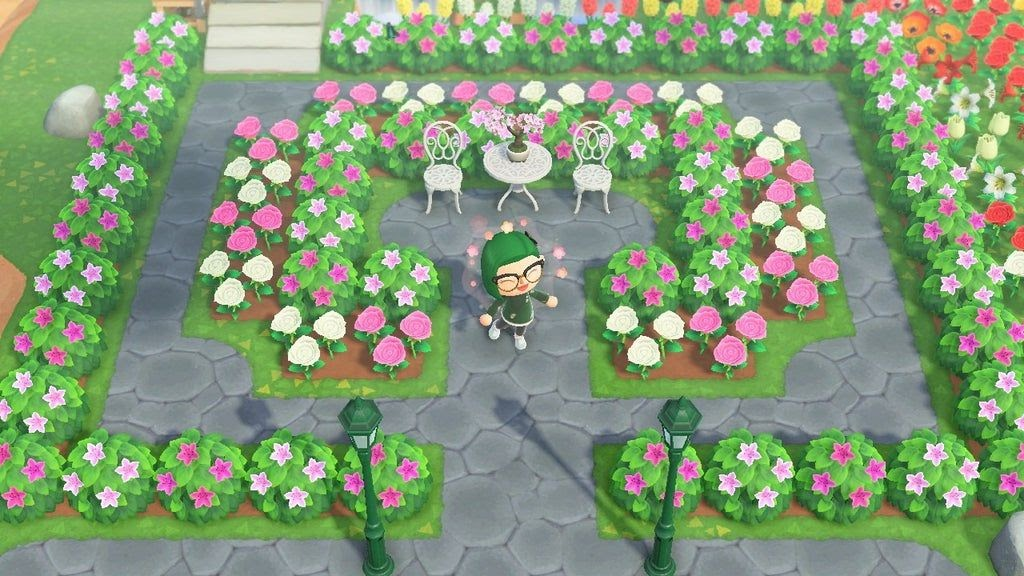 Animal Crossing Flower Garden Design Ideas