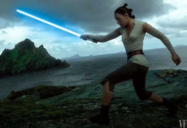 Daisy Ridley reprises her role as Rey in this December's STAR WARS: THE LAST JEDI.