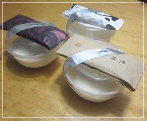 だんなのお土産「たねや」の杏仁豆腐、3種類♪