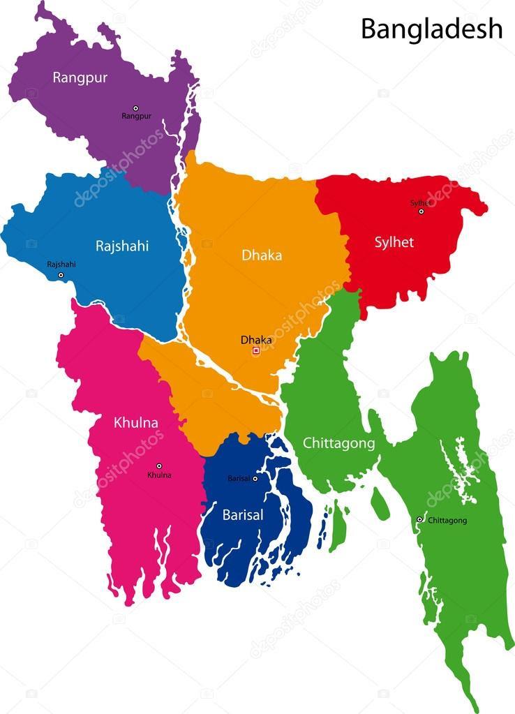 Bangladesh Mapa Prov