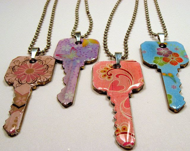 Upcycled/Recycled Key Pendants