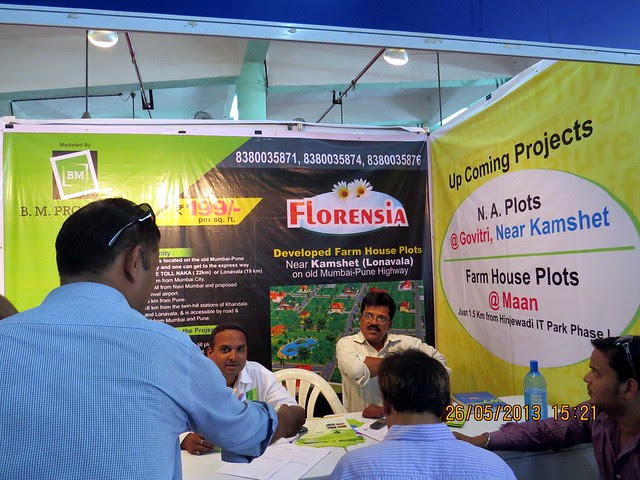 Florensia Farmhouse Plots - off Old Mumbai Pune Highway NH4 - Kamshet - Visit Sakal Agrowon Green Home Expo, 25th and 26th May, 2013