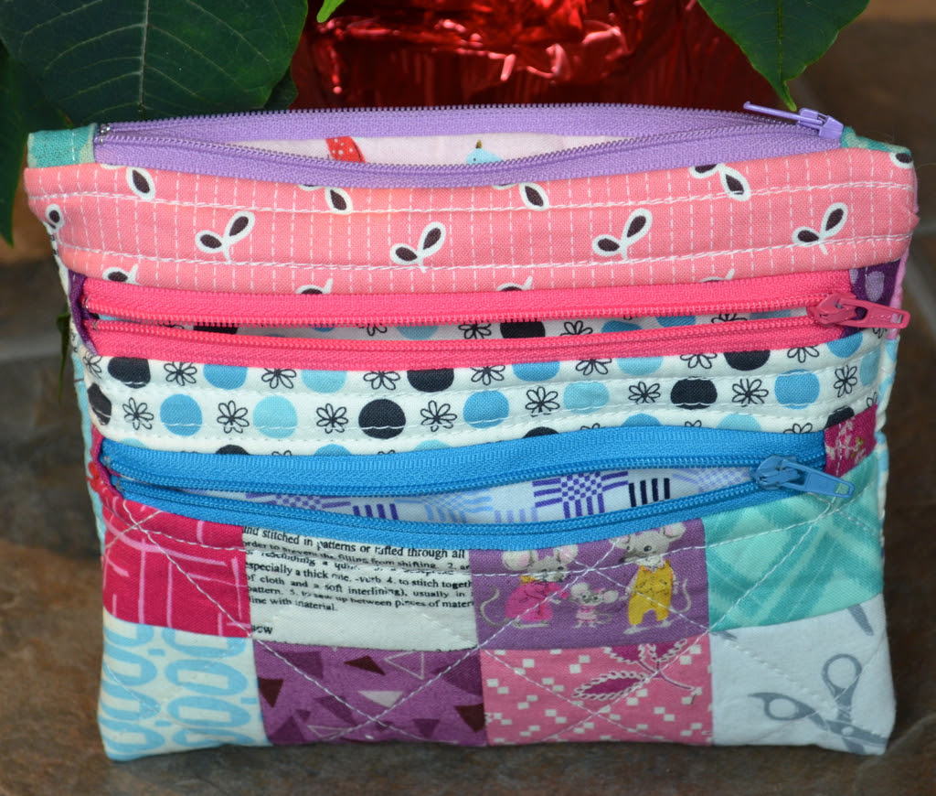 Triple Zipper Pouch