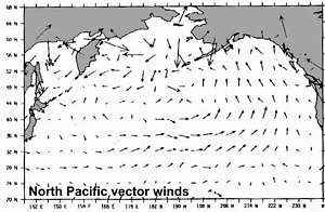 Winds in the North Pacific