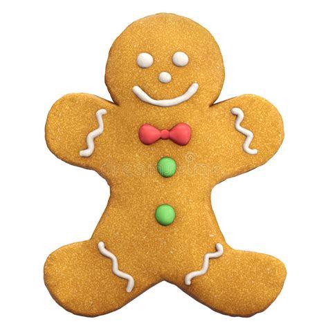 gingerbread man christmas icon stock photo image