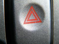 Hazard light button