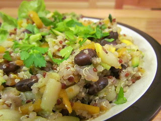Black Beans and Quinoa with Shredded Vegetables