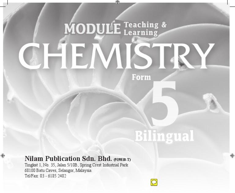 Modul Kimia Tingkatan 5 Nilam Publication Jawapan - Sabias g