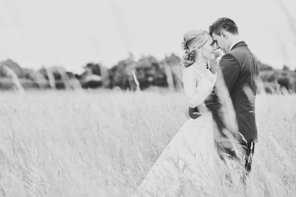 Black & white photography from wedding in Sproughton, Suffolk - www.helloromance.co.uk