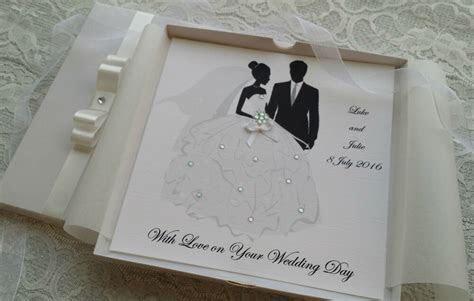 Wedding Day Congratulations Card Handmade Personalised