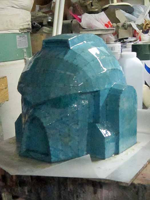 SM MkVII Helmet Pepakura Resin Coated