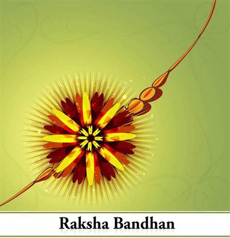 Beautiful festival raksha bandhan background vector Free
