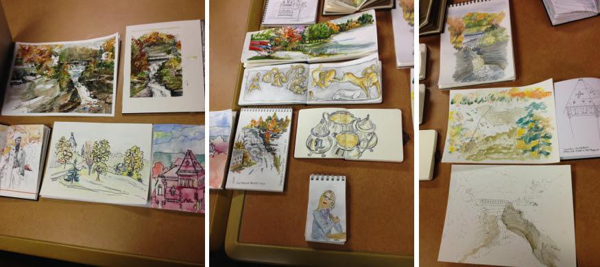 Toronto Urban Sketchers Sketchcrawl Ithaca NY