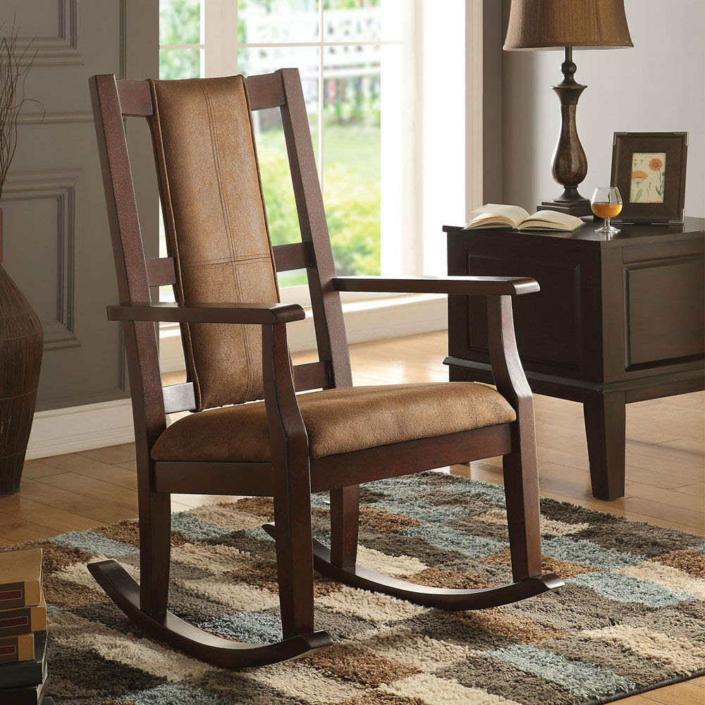 Butsea Living Room Accent Rocking Chair w/ Padded Seat