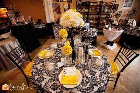 wedding recption yellow   Wedding, Reception, White, Black
