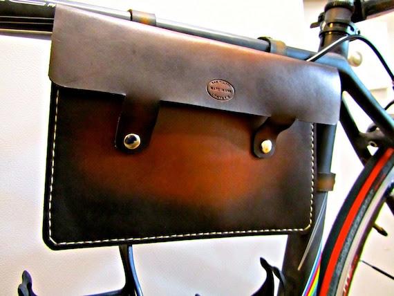 Leather Bike Frame Bag Sunburst