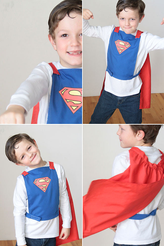 awesome! a superhero cape that won't choke the kid wearing it! great free sewing pattern & tutorial. perfect gift for birthday or Christmas.