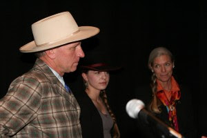 Buck Brannaman is joined onstage at the Sundance Film Festival by his wife, Mary, and daughter Reata.