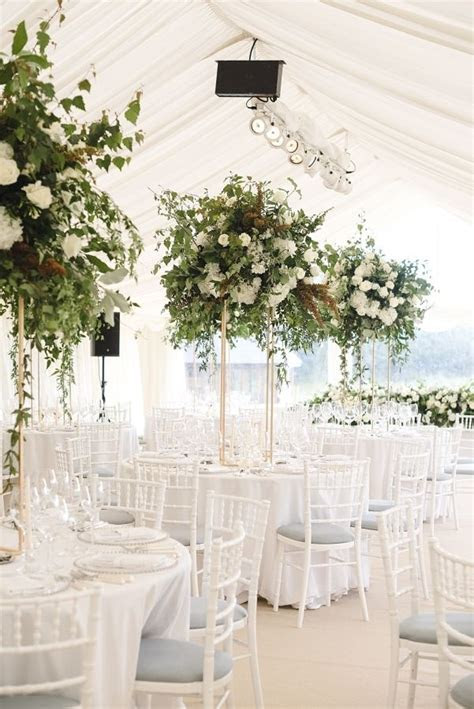 Elegant At Home English Summer Wedding   Wedding Tables