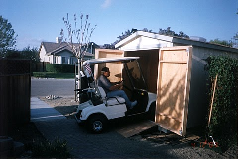 Golf cart storage shed plans garden shed designs plans for Golf cart garage door prices