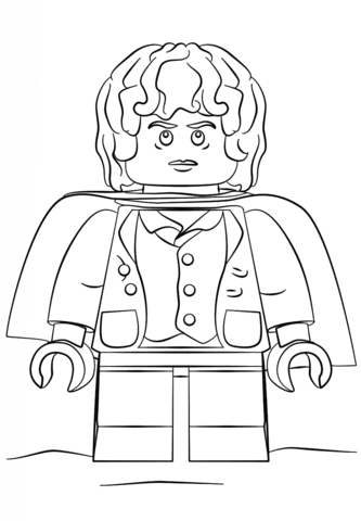 Disegno Di Lego Frodo Da Colorare Disegni Da Colorare E Stampare
