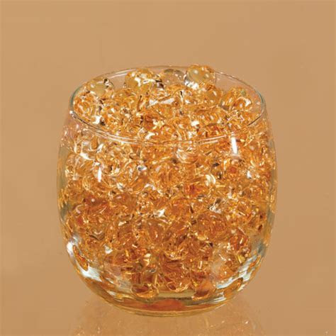 Dew Drop Centerpiece Water Beads, Amber Gold