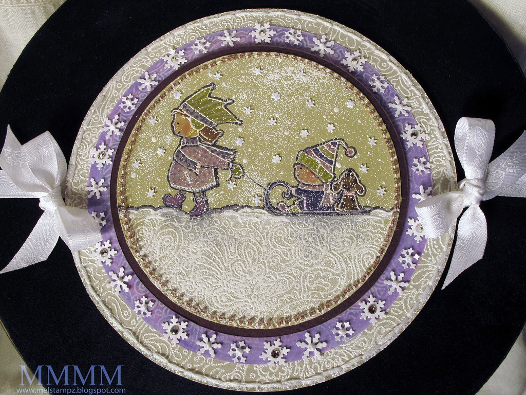 PGP snowy embossed Winter Wonderland mel stampz