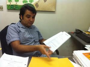 Delegado Júlio César Costa, titular da Defraudações (Foto: Anderson Barbosa/G1)