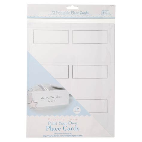 Victoria Lynn? Print Your Own Place Cards, 72